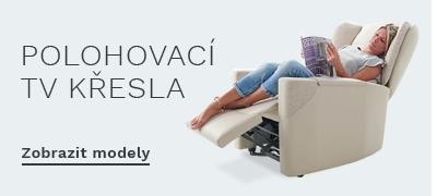 Relaxační TV křesla s elektrickým polohováním